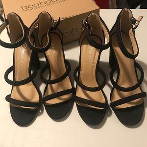 9eba3d37dda4 Boohoo Shoes - NEW! Boohoo Three Strap Sandal Heel SIZE US7